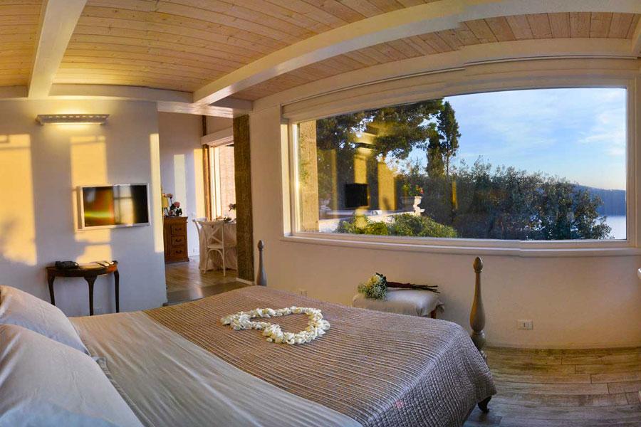 Panoramica Villa Pocci camera con vista panoramica sul lago